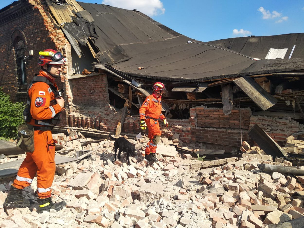 katastrofa budowlana ulica wiejska siemianowice przełajka