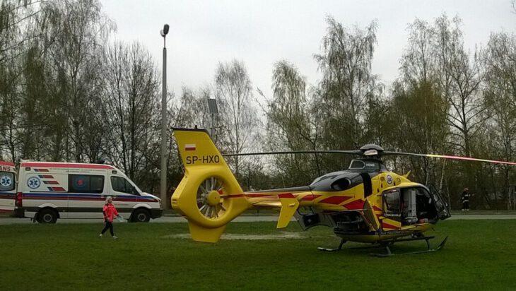 Lotnicze Pogotowie Ratunkowe prowadziło akcję w Przełajce (Siemianowice Śl.)