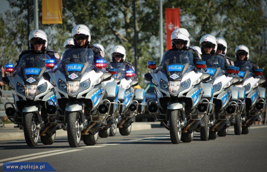 motocykliści policja Unia pomaga sprawy większej wagi