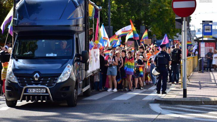 ciężarówka kr na marszu katowice