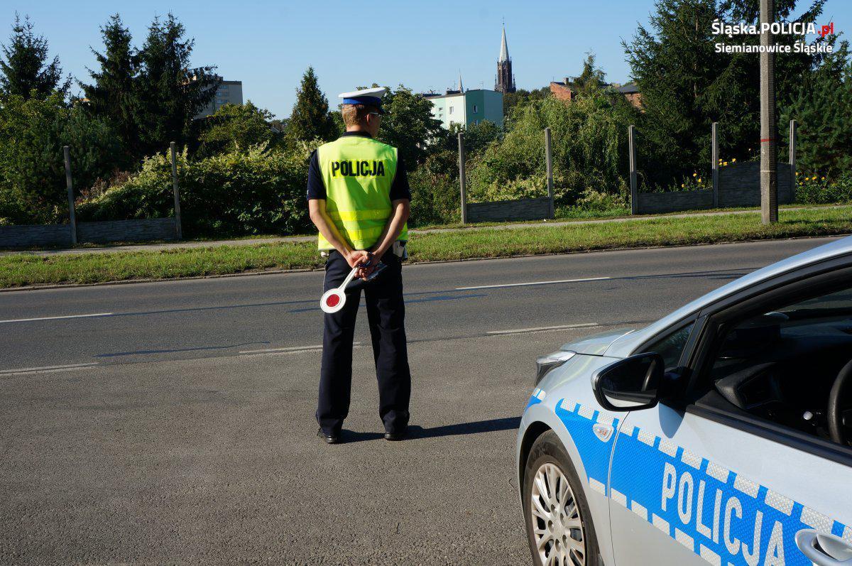 patrol policji drogowej w siemianowicach
