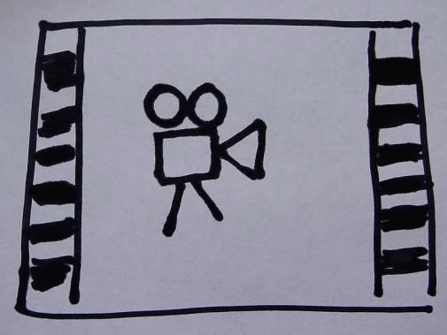 rysunek kamery filmowej