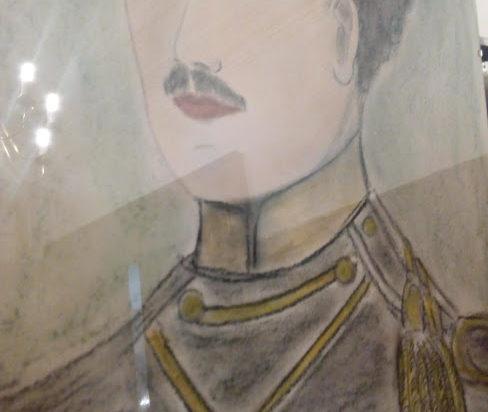 Portret młody Karla Rheinbabena