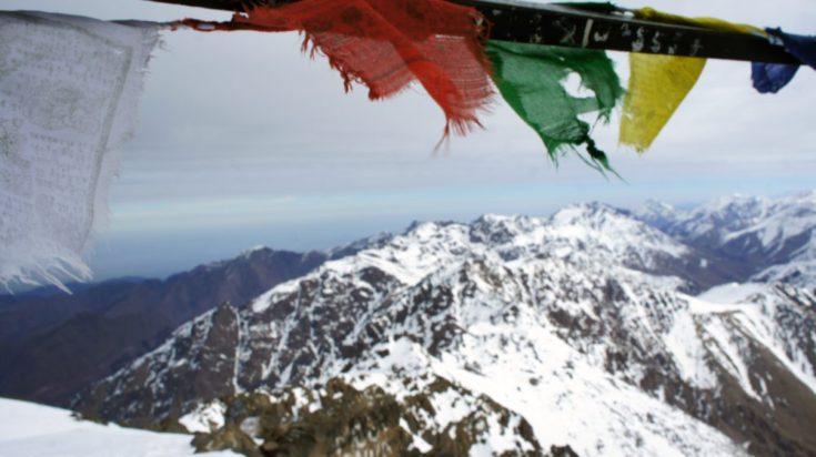 Atlas, widok ze szczytu Dżabal Toubkal