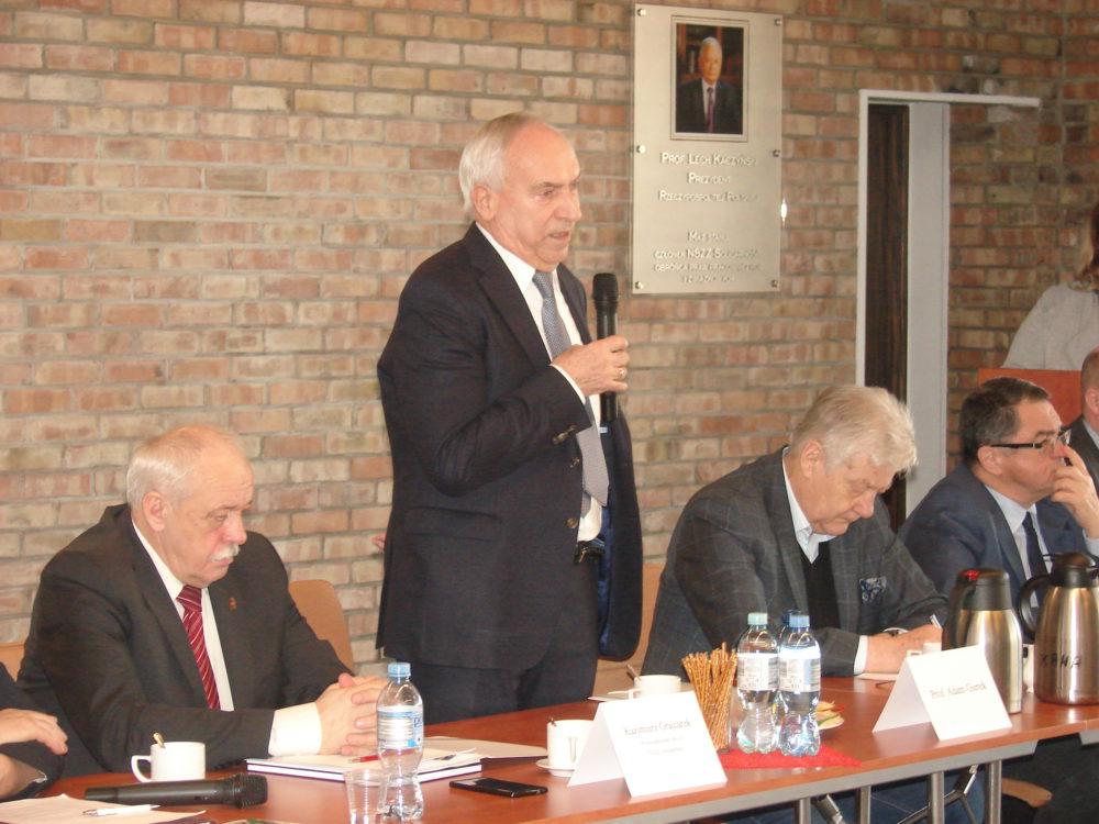panel z profesor A. Gierek