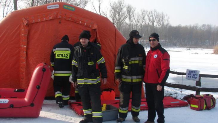 Ratownicy na akwenie wodnym Rzęsa w Siemianowicach Śląskich