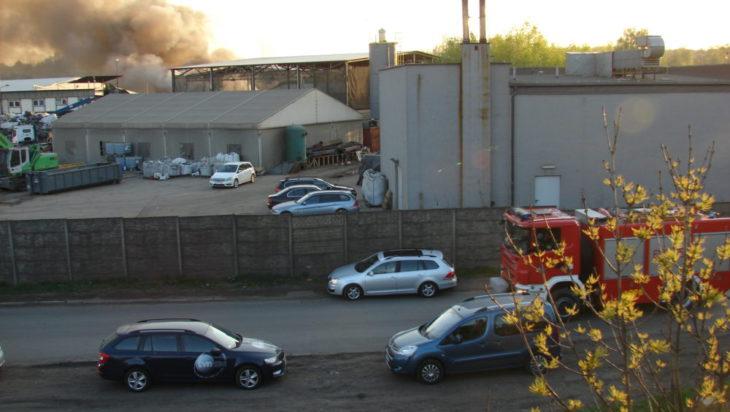 Pożar składowiska odpadów w siemianowicach 2018