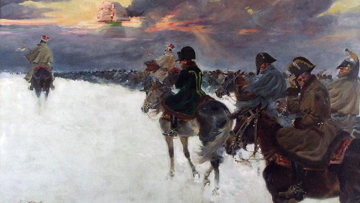 Napoleon wraca z resztą swojej armii