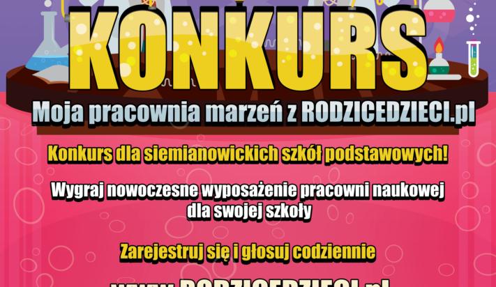 """Konkurs """"Moja pracownia marzeń z RODZICEDZIECI.pl"""""""