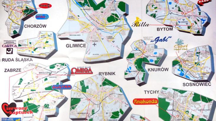 Mapa agencji towarzyskich na Śląsku