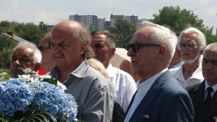 Od lewej red. Jacques Kmieciak oraz profesor Adam Gierek