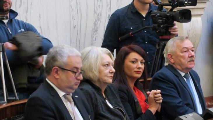 Na sali dostrzegliśmy również Jolantę Kopiec, druga od lewej.
