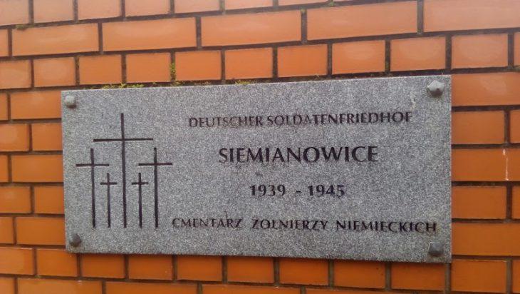 Cmentarz Żołnierzy Niemieckich został założony za kadencji prezydenta Z.P. Szandara. Jedna z katowickich firm ma umowę z rządem w Berlinie i poszukuje nadal szczątków poległych w II wojnie żołnierzy, aby ich tutaj pochować.