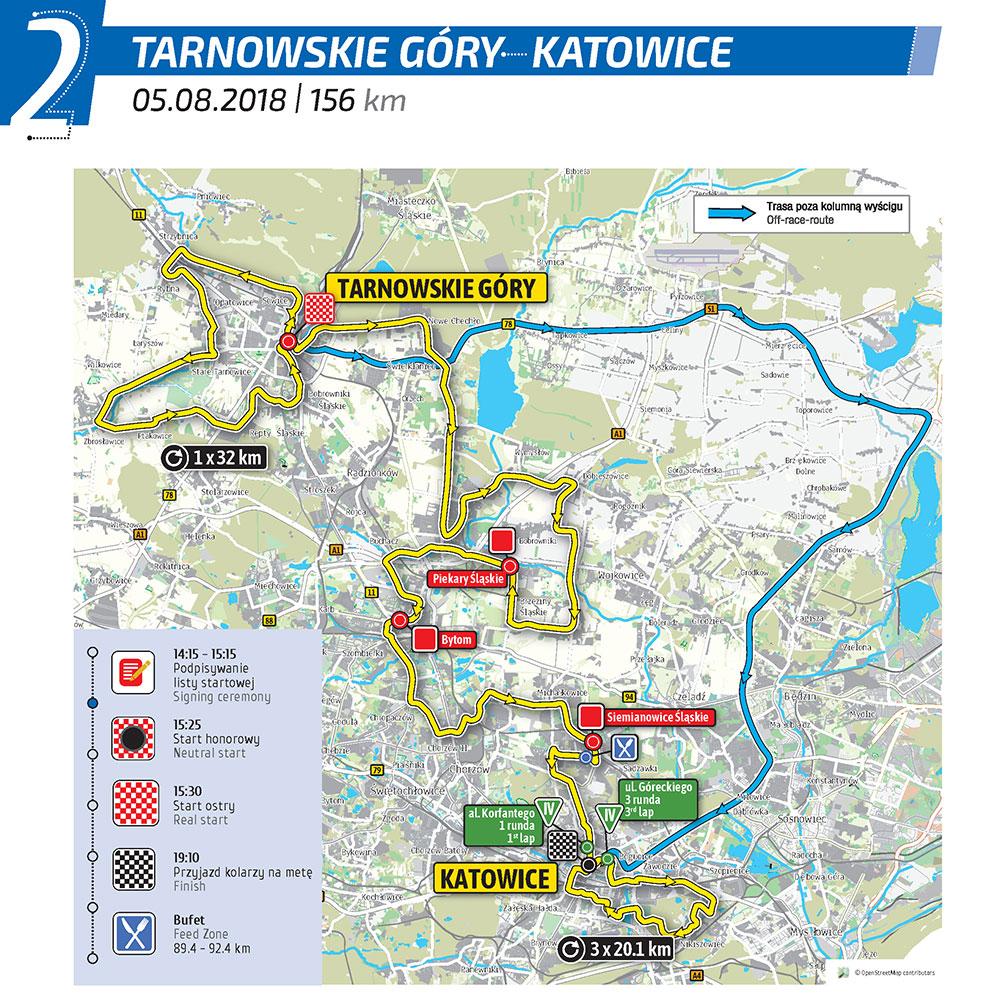 Tour de Pologne mapa
