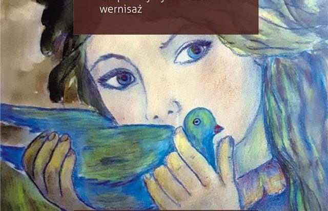Plakat promujący gołębią wystawę