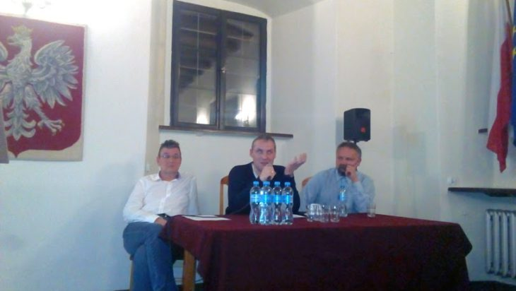 od lewej A. Dziuba, J. Mokrosz, J. Krajniewski