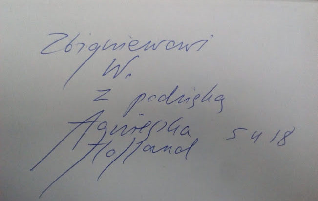 Autograf Agnieszka Holland