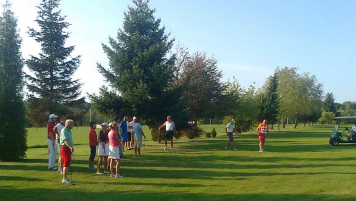 uczestnicy zawodów pole golfowe w siemianowicach