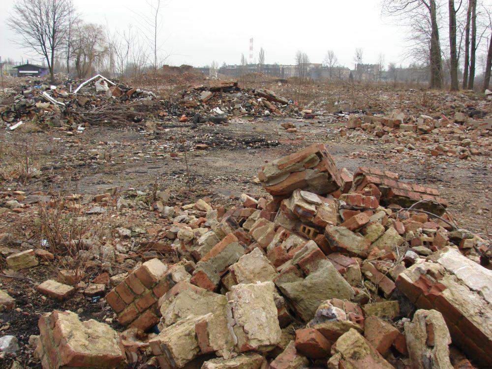 Obecny wygląd terenu po Hucie Jedność sprawia ponure wrażenie.