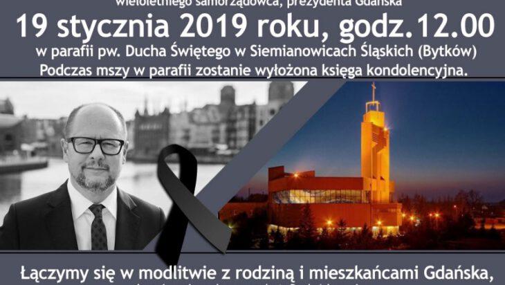 Msza w intencji Prezydenta Gdańska Pawła Adamowicza