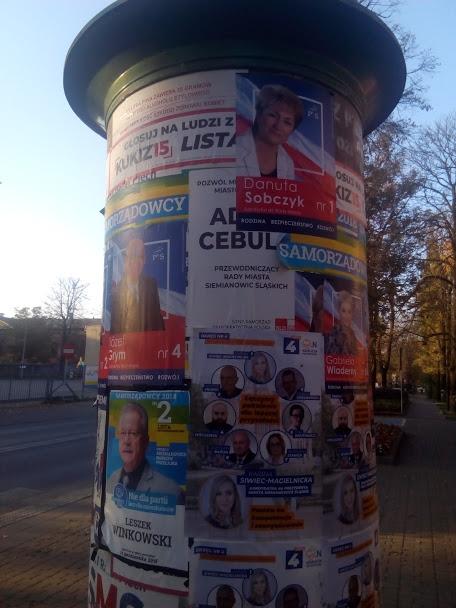 siemianowice plakaty wyborcze